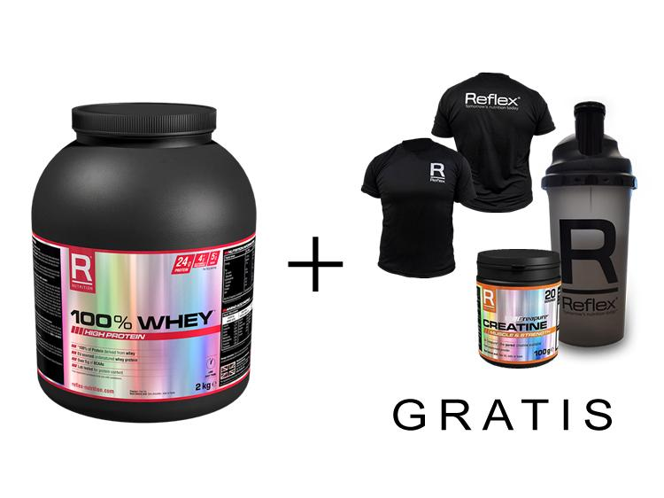 100% Whey + Products for free