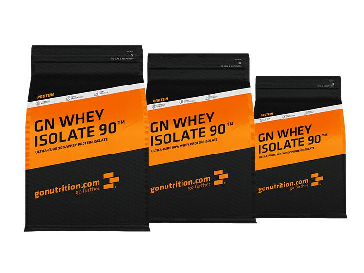 3 x Whey Isolat 90 GoNutrition