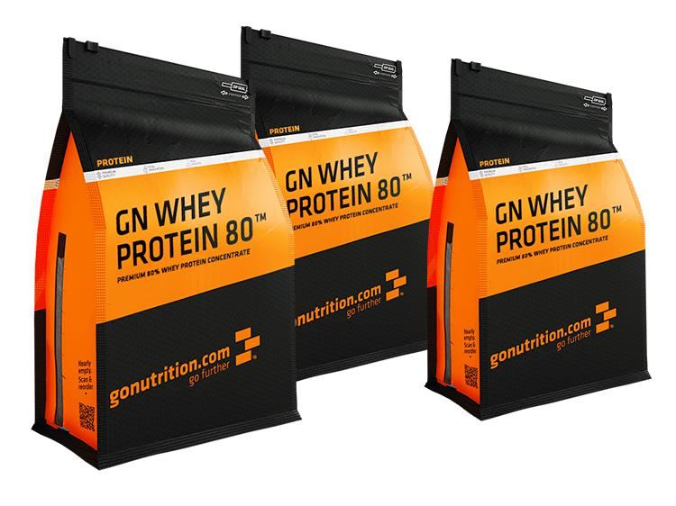 3 x Whey Protein 80 GoNutrition