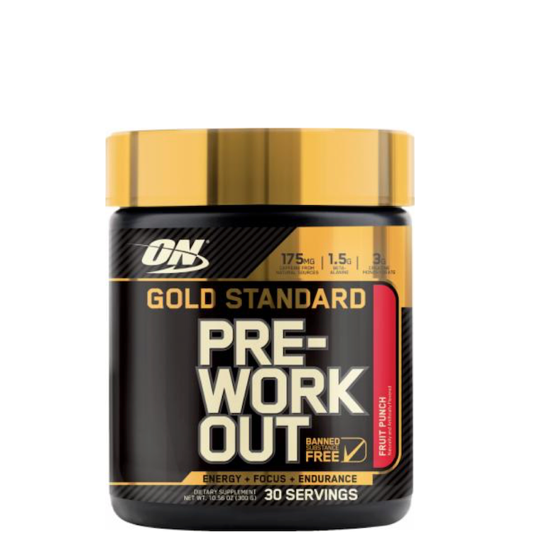 Gold Standard PRE-Workout, Fruit Punch