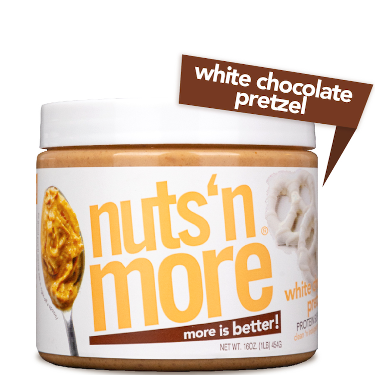 High Protein Peanut White Choco Pretzel