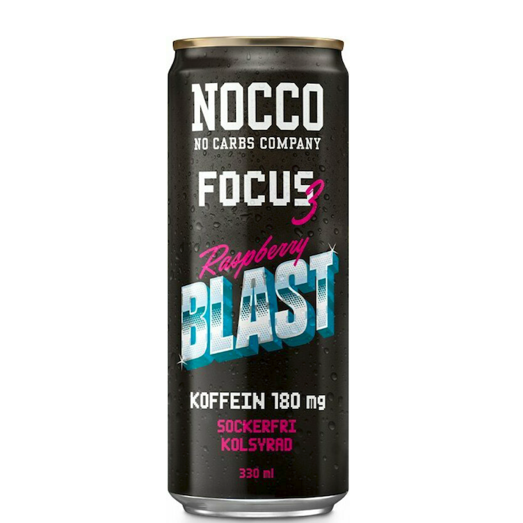 Nocco Focus Energy Raspberry Blast