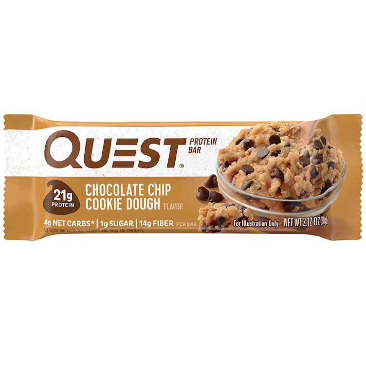 Quest Bar, Choco Chip Cookie Dough