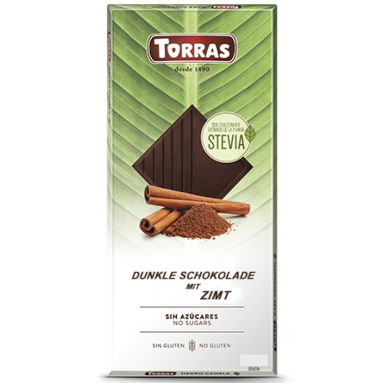 Stevia dark chocolate cinnamon