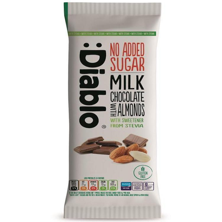 Stevia Milk chocolate with almonds